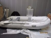 inflatable boat dinghy tender rib 3.4 inflatable deck v keel, like avon zodiac honwave