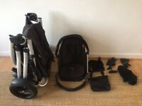 Phil and teds pram, Black, 4 wheel, used but good