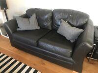 Comfy faux leather sofa