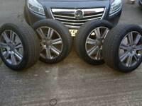 Audi alloys with new tyres 5x112 Mercedes Audi seat vw