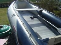 honda 4m inflatable boat and tohatsu 25hp 2 stroke