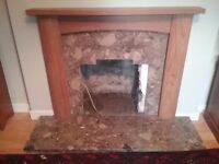 Fire surround and hearth for sale