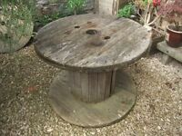 Cable reel garden table!