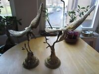 Pair of Beautiful Bronze Eagle Statues / Ornaments