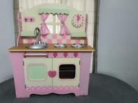 Brand New ELC wooden Pink role play Kitchen