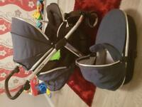 Double oyster pram and carrycot