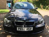 BMW 320d 2.0 diesel 2007 , 1 year mot , black , great condition