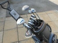 Ladies / teenager golf clubs with bag and trolley