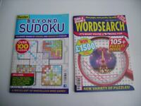 Wordsearch and Sudoku Puzzle Magazines.