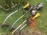 Job lot strimmers and leaf blower