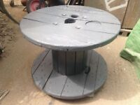 Grey cable drum table