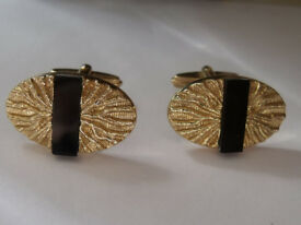 cufflinks - shirt accessory - gold/black - ideal xmas present for men