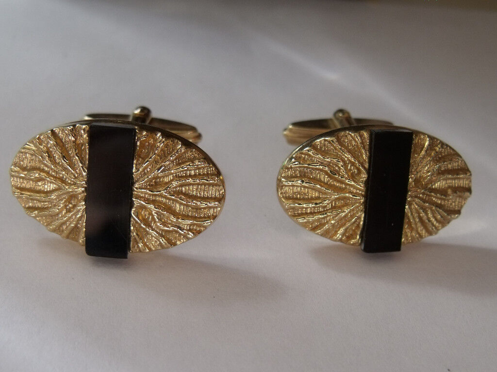 cufflinks - shirt accessory - gold/black - ideal xmas present for men