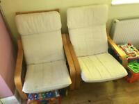 2 x Ikea Poang Chairs