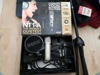 Rode NT1-A Condenser Microphone Package, like new