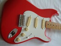 Fender Squier '50s Stratocaster electric guitar - Japan - Mid '80s - Fiesta Red - E-serial
