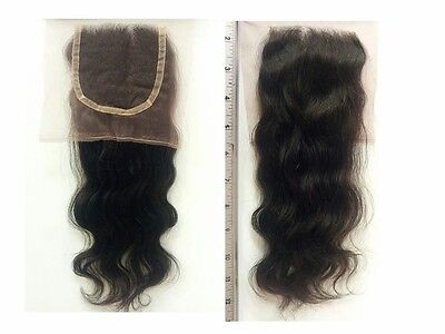 100% Brazilian Remy Lace Top Closure #2 Darkest Brown, NATURAL WAVE *USA Seller*