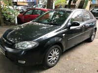 Chevrolet LACETTI SX 1598cc Petrol 5 speed manual 5 door hatchback 55 Plate 15/09/2005 Black