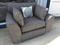 Grey & black fabric snug chair (New ex display)