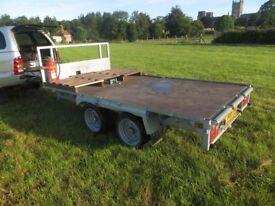 Indespension tandem axle trailer