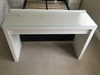 Ikea Malm White Dressing Table with chair