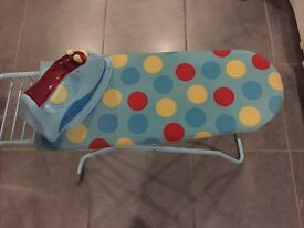 ELC ironing board and iron