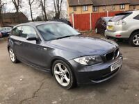 BMW 120d DIESEL 2007 3 DOOR MINT LEATHER PARKING DRIVES LOVRLY