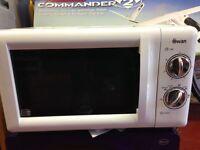 swan 800w 20l microwave, white unused.