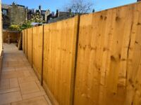 2 premium closeboard / featherboard fence panels, hand made, 6ft x 5ft6in
