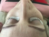 Volume eyelashes extensions and LVL