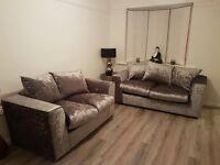 3+2 seater sofa crushed velvet brand new