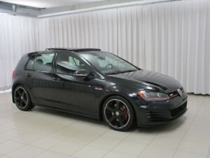 2015 Volkswagen GTI 5DR AUTOBAHN w/ NAV, MOONROOF, HEATED SEATS,