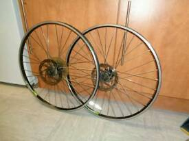 A set of Alexrims 26 inch Mountain bike disc wheels