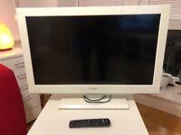 """White Toshiba Televison 32"""""""