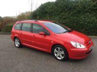 ESTATE**2002 Peugeot 307 2.0. SW HDI RAPIER 12 MONTHS MOT