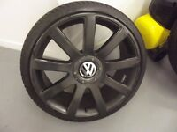 "215/35 ZR 19"" Alloy Wheels Audi VW Seat Skoda Mercedes 5 x 100 5 x 112 with new tyres just fitted"