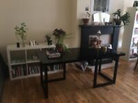Habitat desk / large table with dark glossy finish for sale