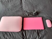 Pink netbook ultra slim