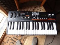 Analogue Synth: Akai Miniak, 37 full sized keys, vocoder etc.