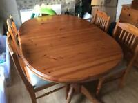 Pine table & 6 chairs £25 need gone this morning