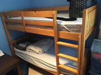 John Lewis Wilton Bunk Bed with 2 mattresses