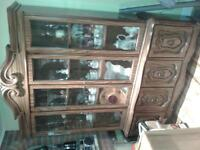 Buffet et huche avec portes en verre - Buffer & Hutch glass door