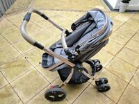 Mother are Orb Pram in Charcoal Twill