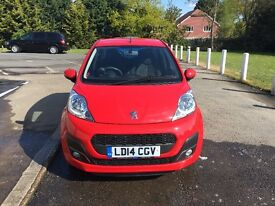 Peugeot 107 2014 Red