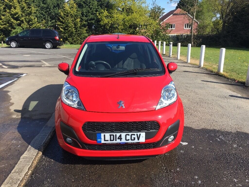peugeot 107 2014 red in west kingsdown kent gumtree. Black Bedroom Furniture Sets. Home Design Ideas