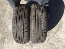 2 x 195/55/15 budget tyres