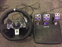 Xbox One Logitech G920 Driving Wheel and Pedal Set