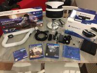PSVR BUNDLE | PS4 | VR | CAMERA | GAMES | MOTION GUN | ALL BOXED