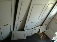 10 UNIT BEDROOM WARDROBE S ET WITH TOPBOXES