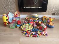 Peppa pig, fireman Sam, postman pat and little farm toys kids bundle